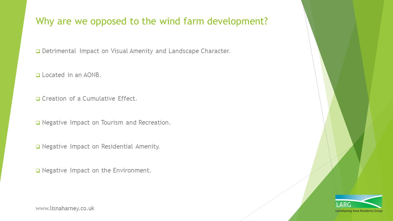 Why are we opposed to the wind farm development