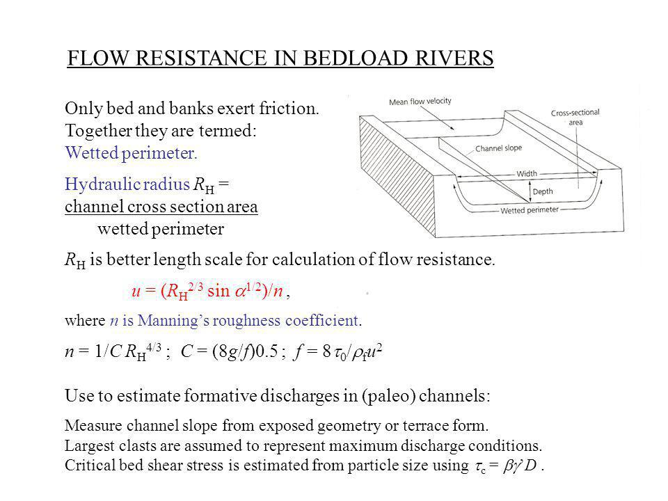 FLOW RESISTANCE IN BEDLOAD RIVERS
