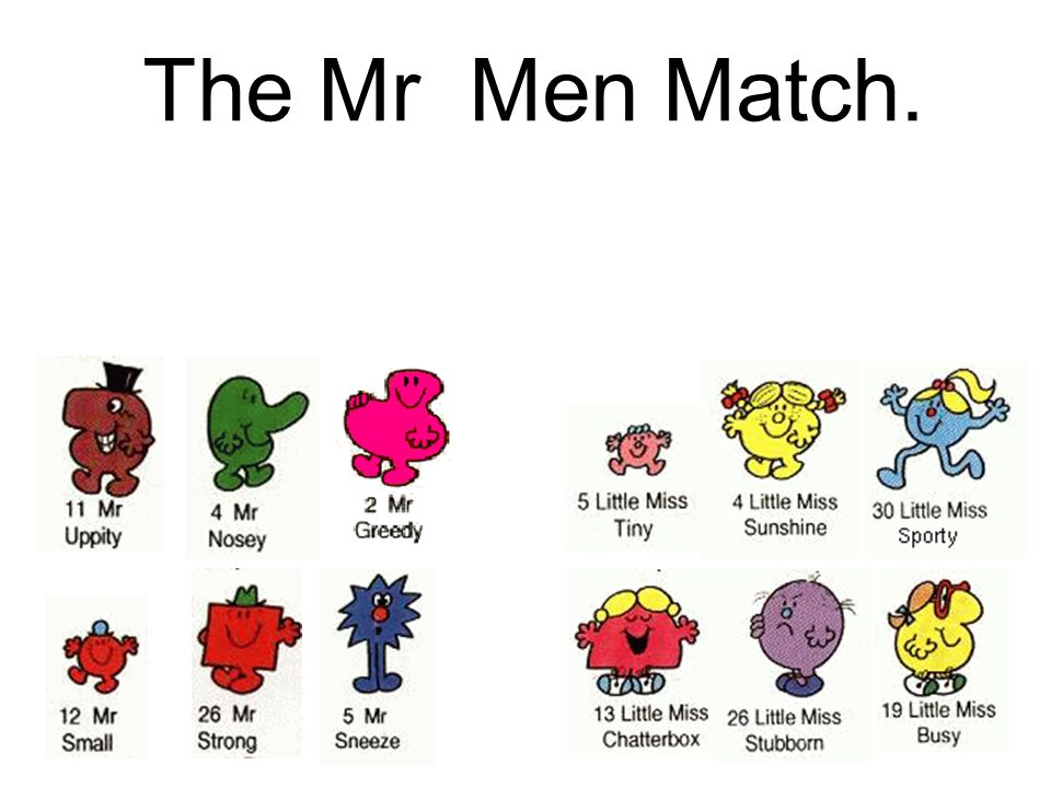The Mr Men Match.