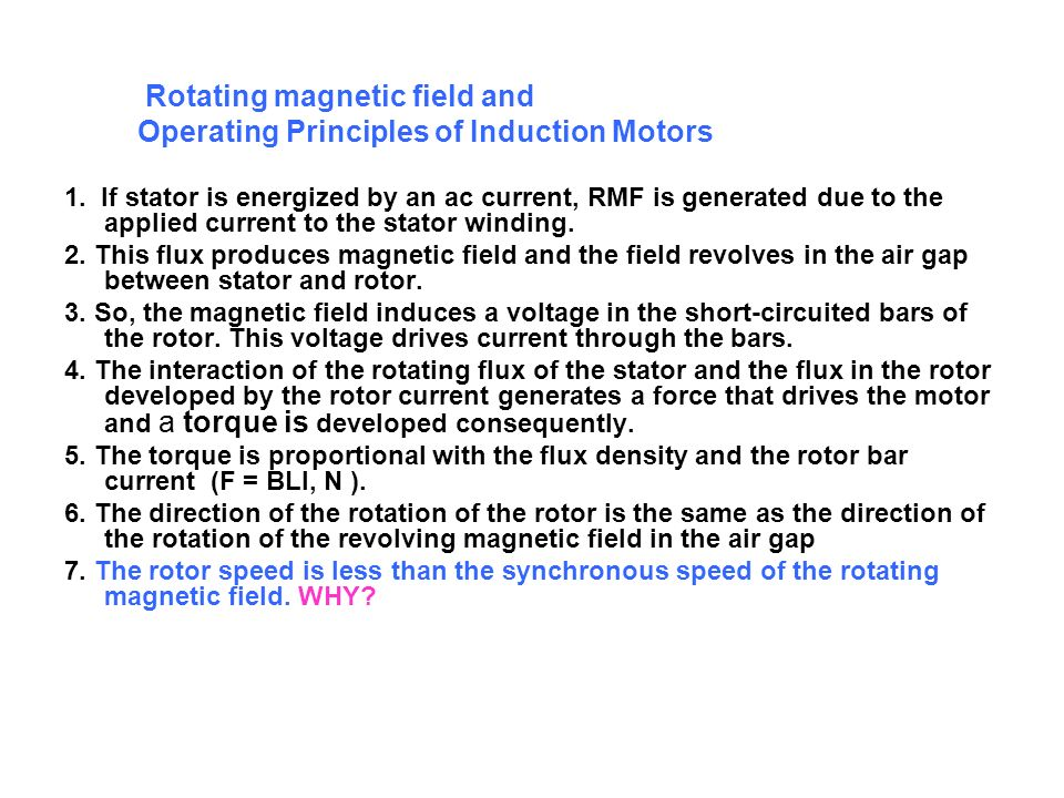 Operating Principles of Induction Motors