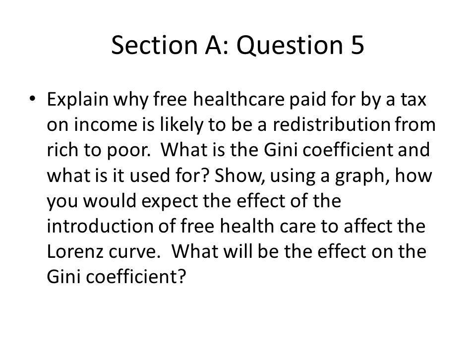 Section A: Question 5