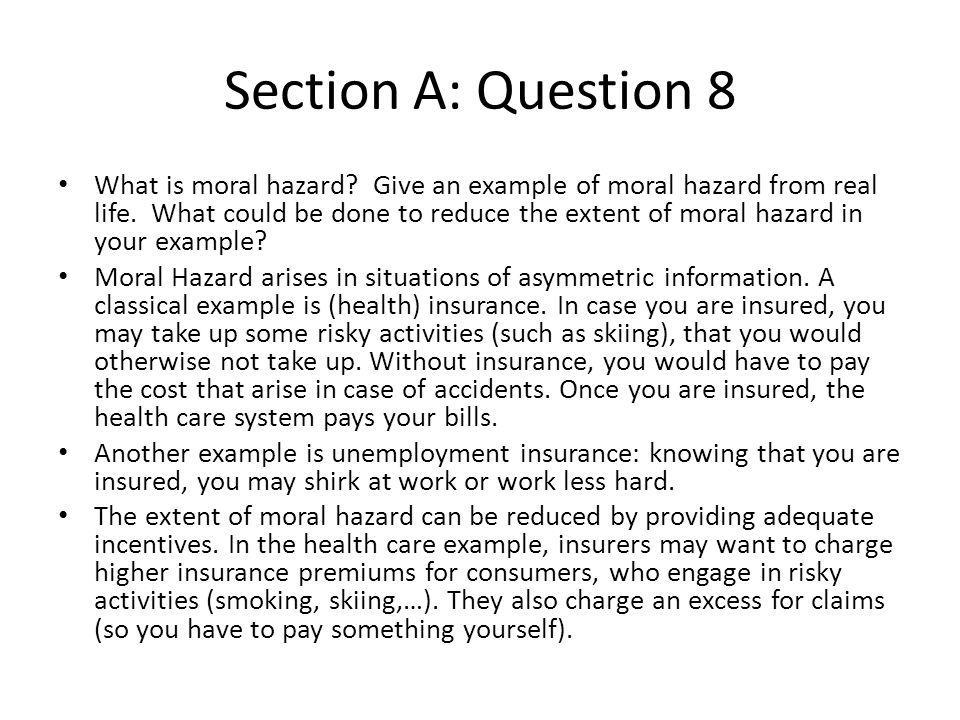 Section A: Question 8