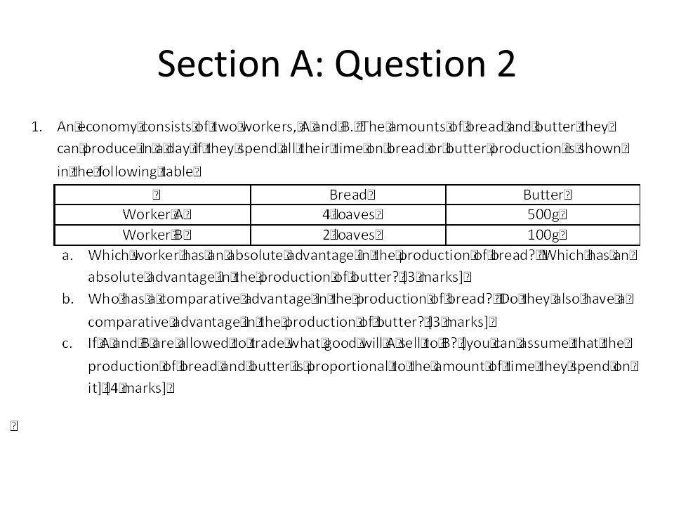 Section A: Question 2