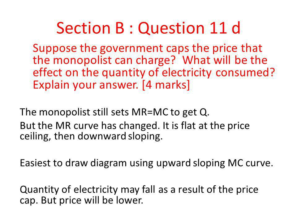 Section B : Question 11 d