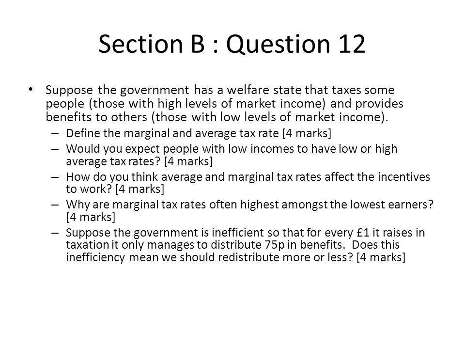 Section B : Question 12