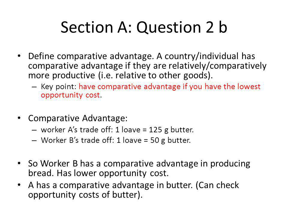 Section A: Question 2 b