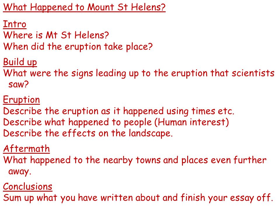 What Happened to Mount St Helens Intro Where is Mt St Helens