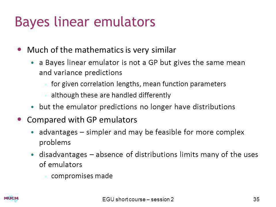 Bayes linear emulators