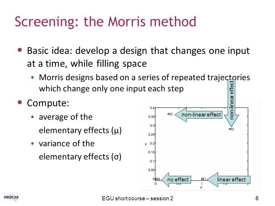 Screening: the Morris method
