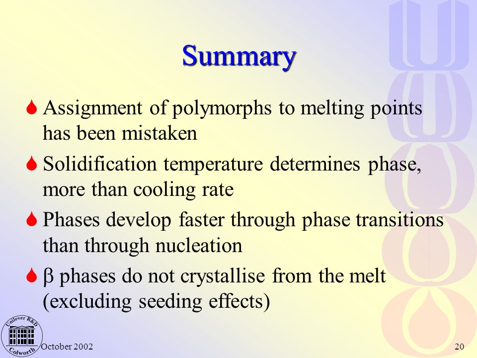 Summary Assignment of polymorphs to melting points has been mistaken