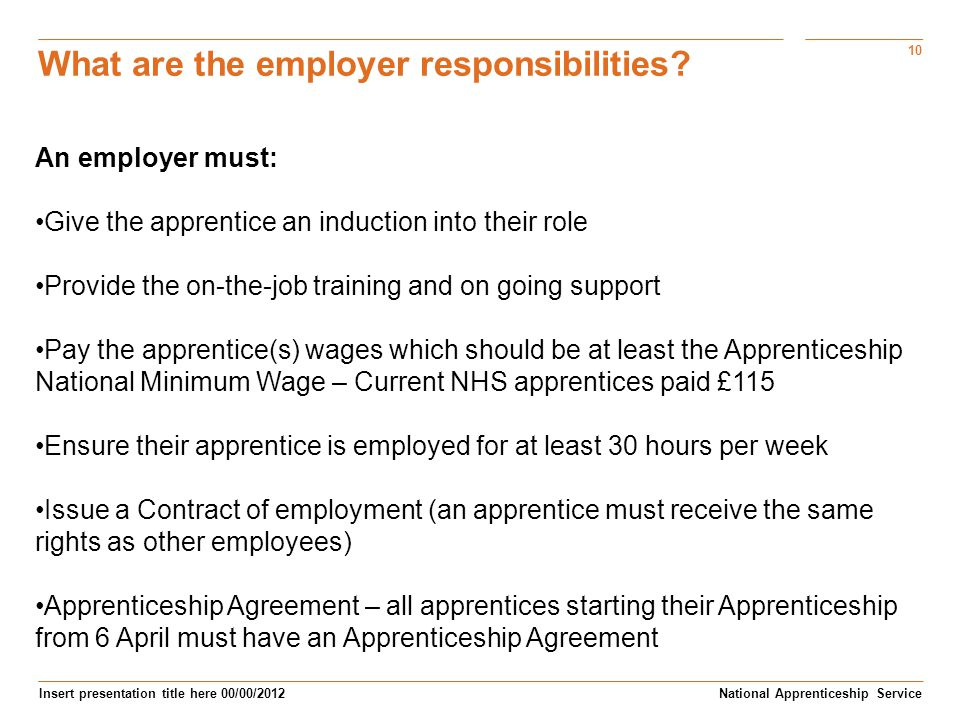 What are the employer responsibilities