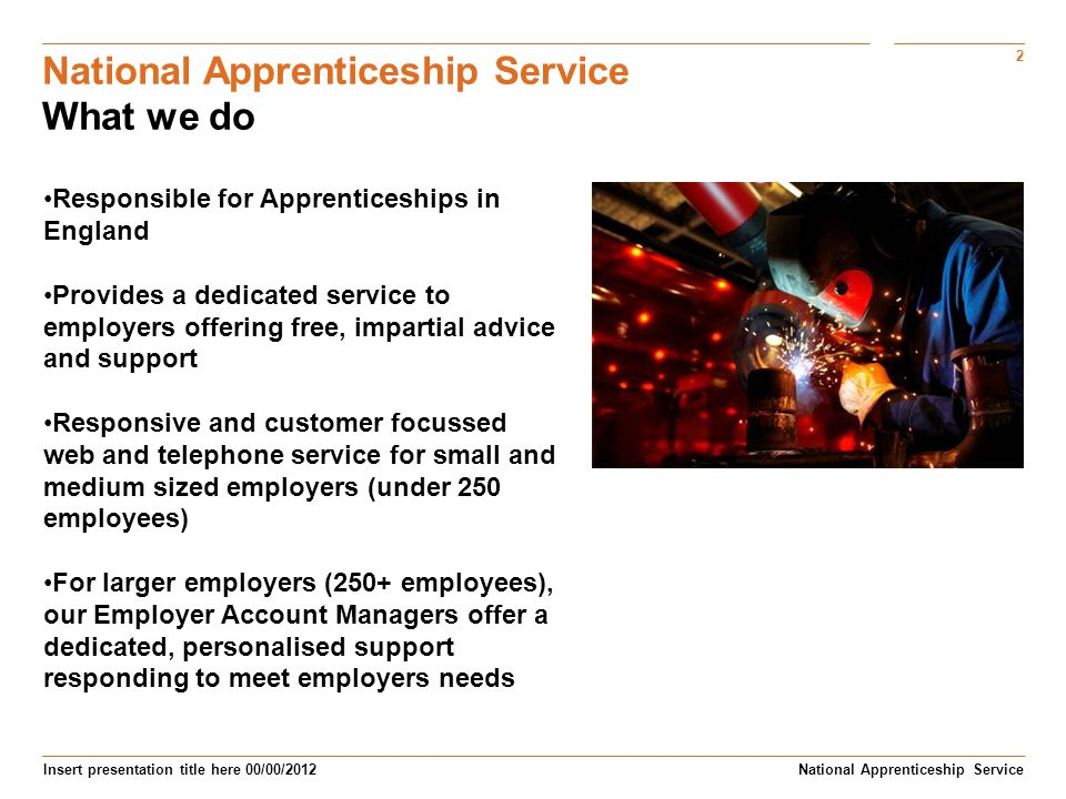 National Apprenticeship Service What we do