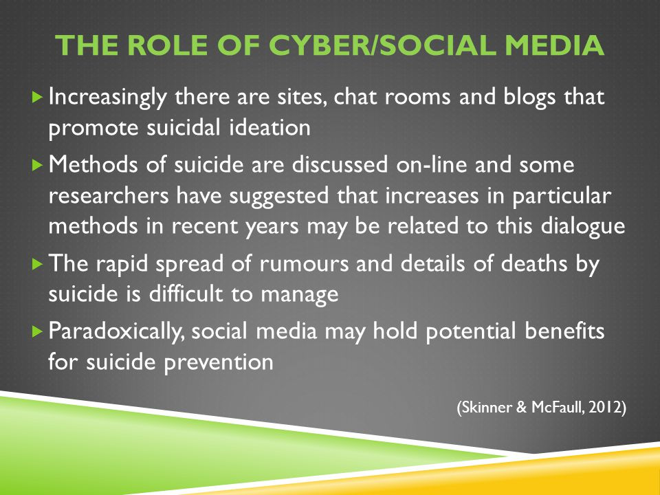 The role of cyber/social media