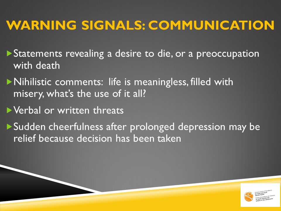 WARNING SIGNALS: Communication