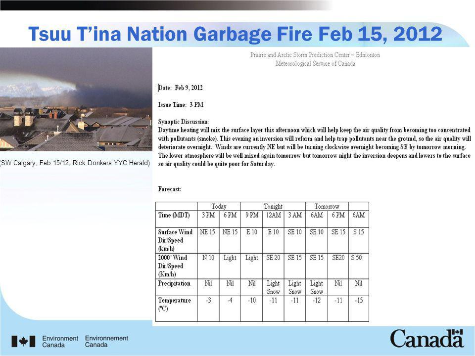 Tsuu T'ina Nation Garbage Fire Feb 15, 2012