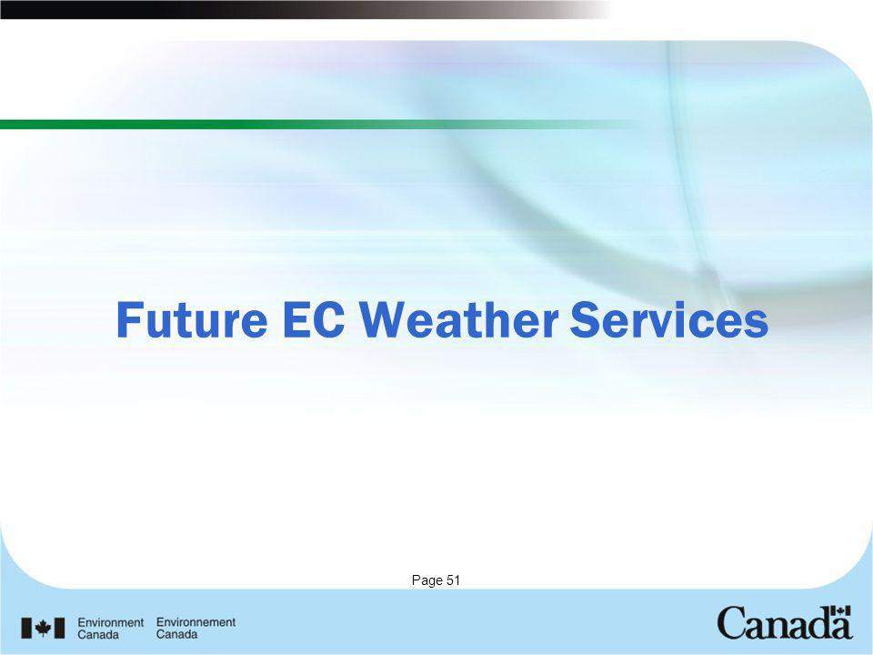 Future EC Weather Services