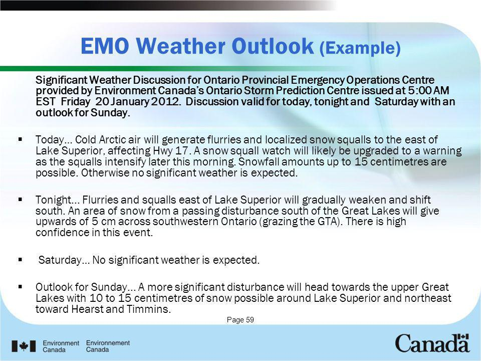 EMO Weather Outlook (Example)