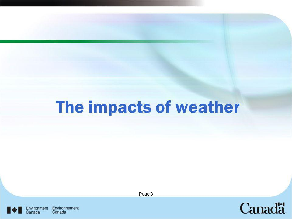 The impacts of weather