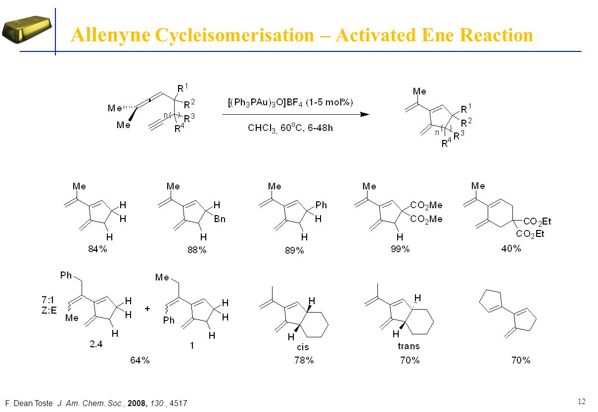 Allenyne Cycleisomerisation – Activated Ene Reaction