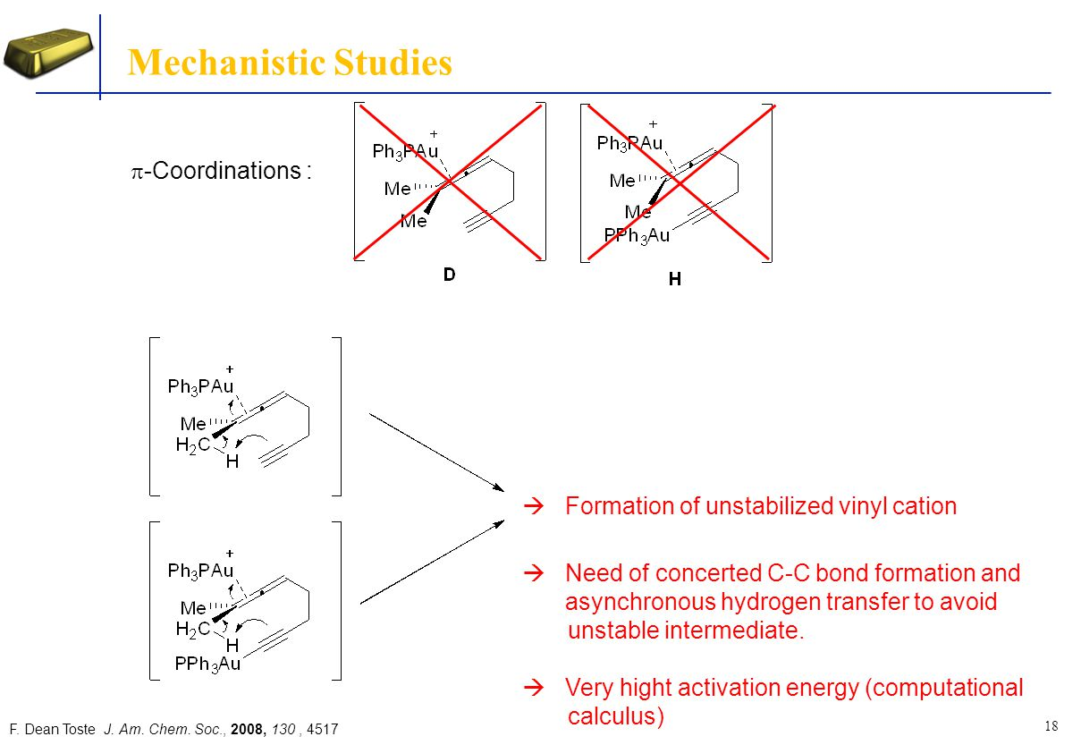 Mechanistic Studies p-Coordinations :