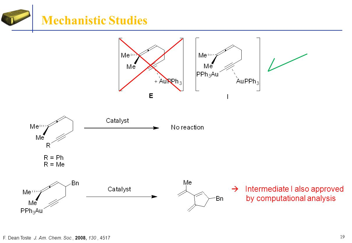 Mechanistic Studies Intermediate I also approved
