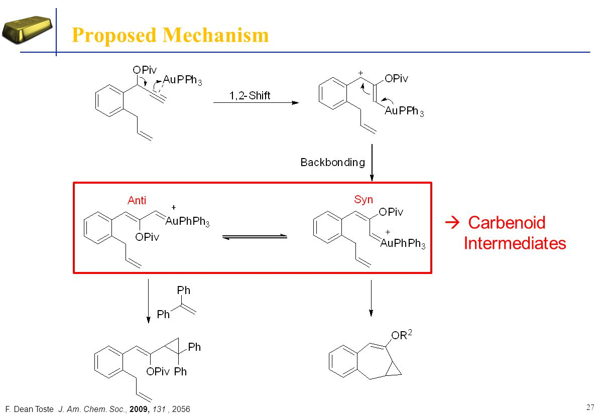 Proposed Mechanism Carbenoid Intermediates