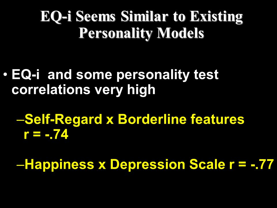 EQ-i Seems Similar to Existing Personality Models