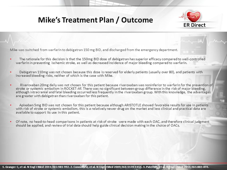 Mike's Treatment Plan / Outcome