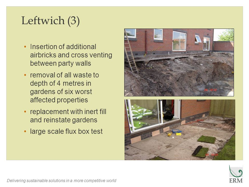 Leftwich (3) Insertion of additional airbricks and cross venting between party walls.