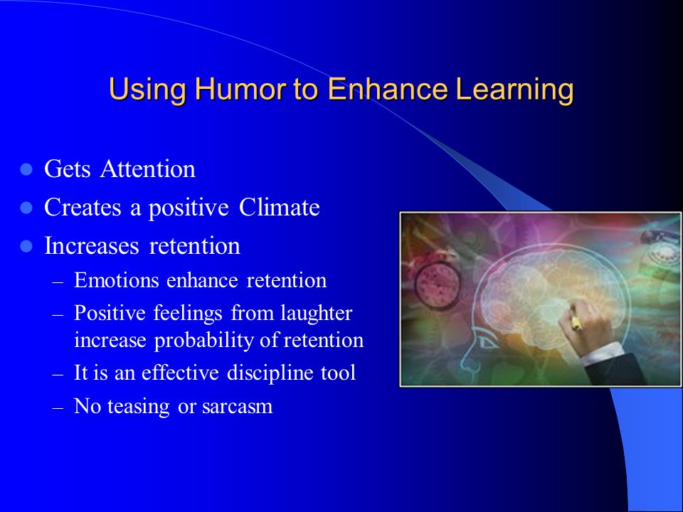 Using Humor to Enhance Learning