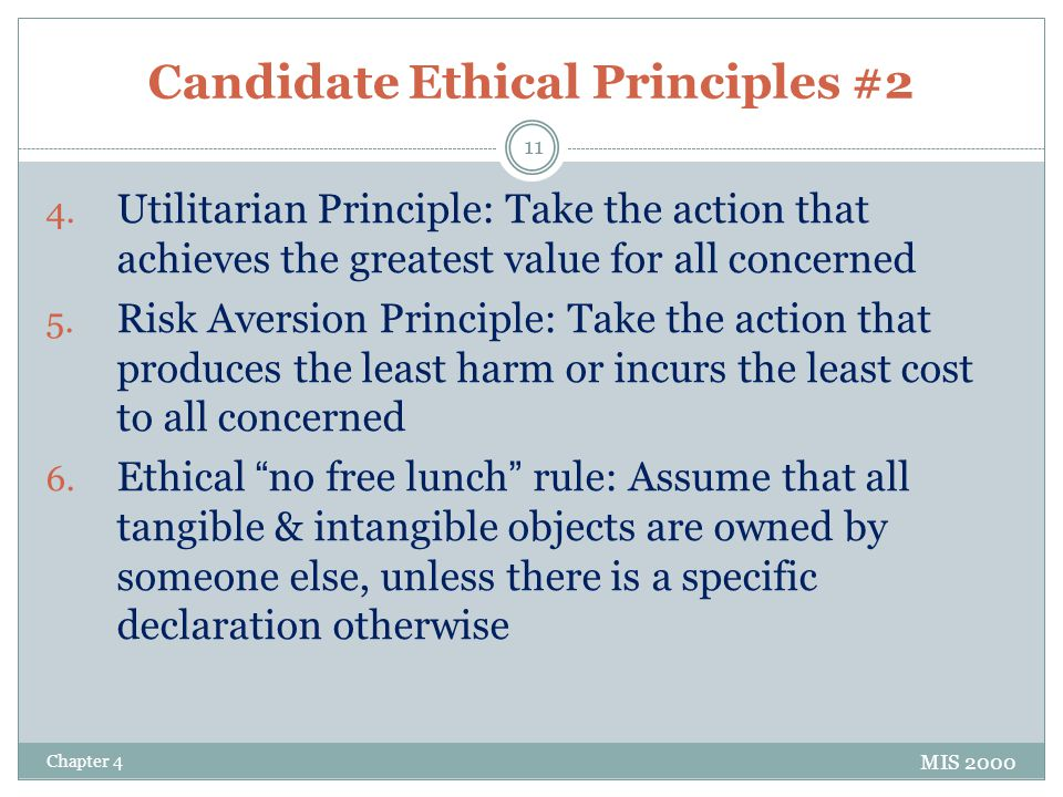 Candidate Ethical Principles #2