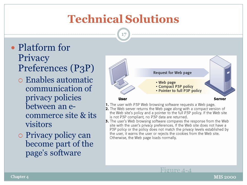 Technical Solutions Platform for Privacy Preferences (P3P)