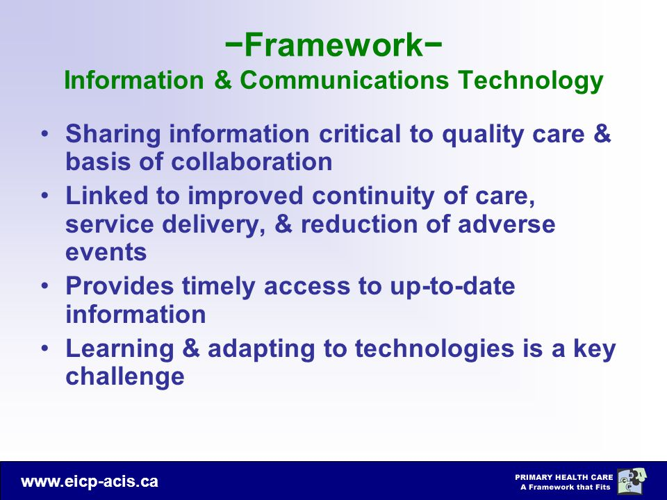−Framework− Information & Communications Technology