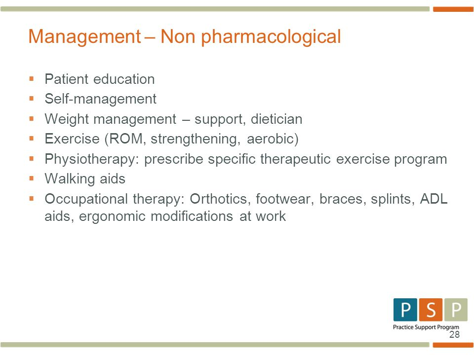 Management – Non pharmacological