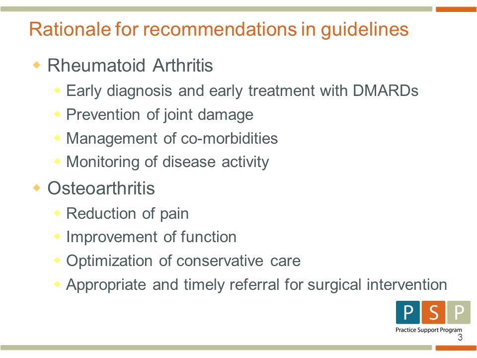 Rationale for recommendations in guidelines