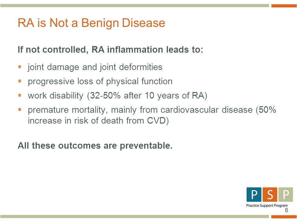 RA is Not a Benign Disease
