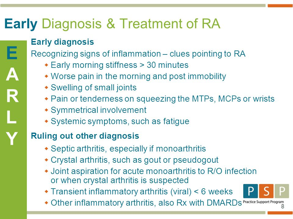 Early Diagnosis & Treatment of RA