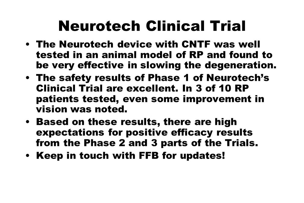 Neurotech Clinical Trial