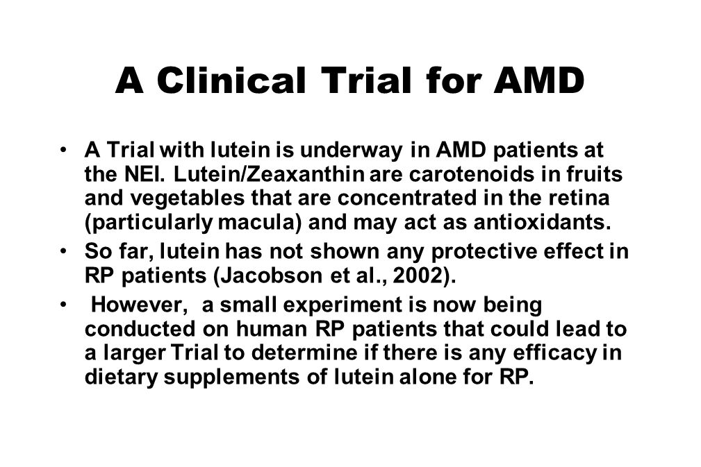 A Clinical Trial for AMD