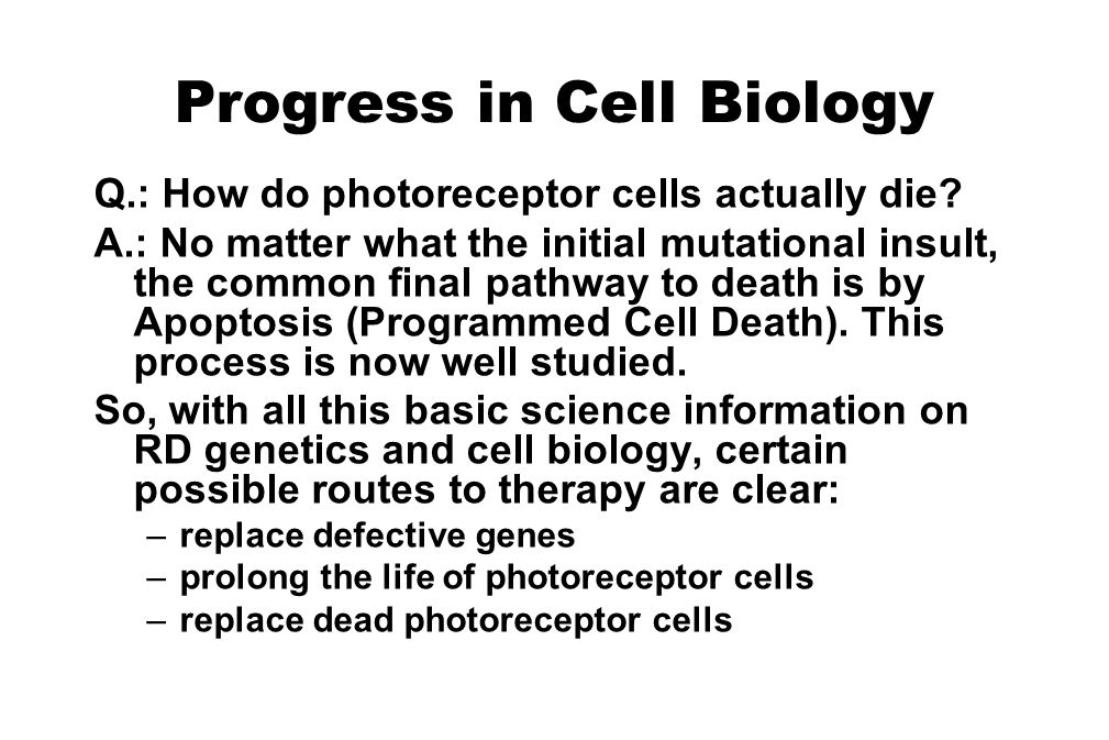 Progress in Cell Biology