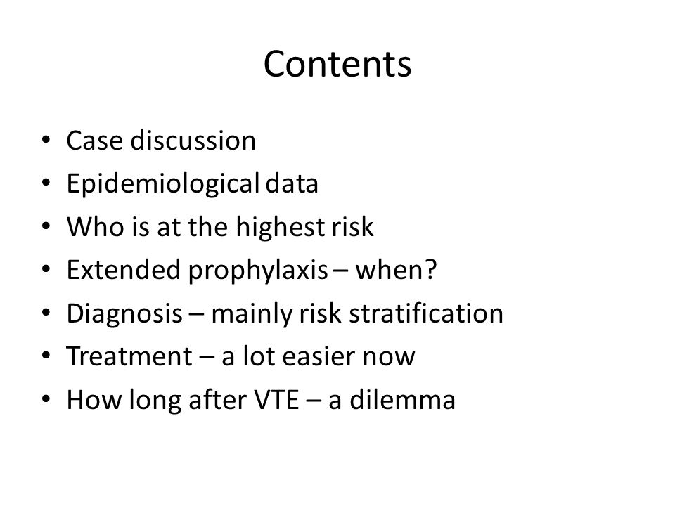 Contents Case discussion Epidemiological data