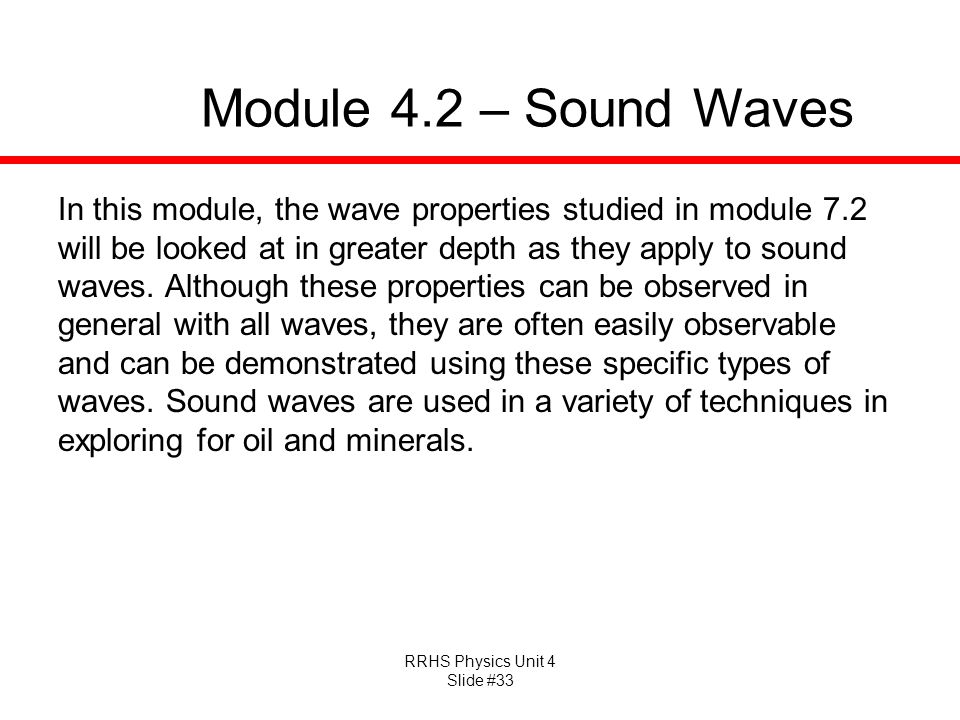 Module 4.2 – Sound Waves