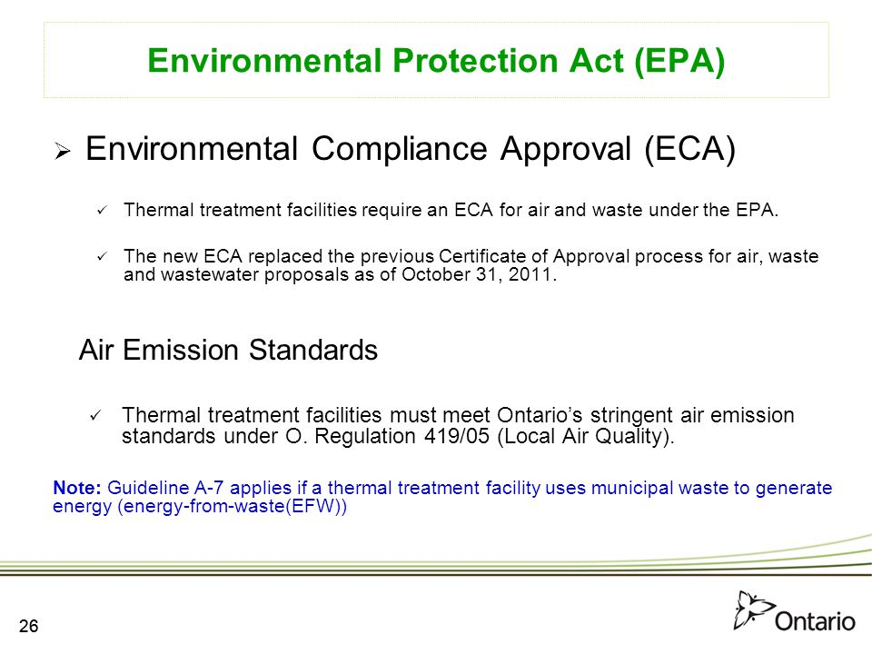 guide to applying for an environmental compliance approval
