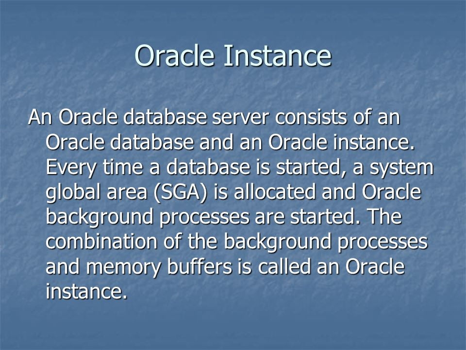 Oracle Instance