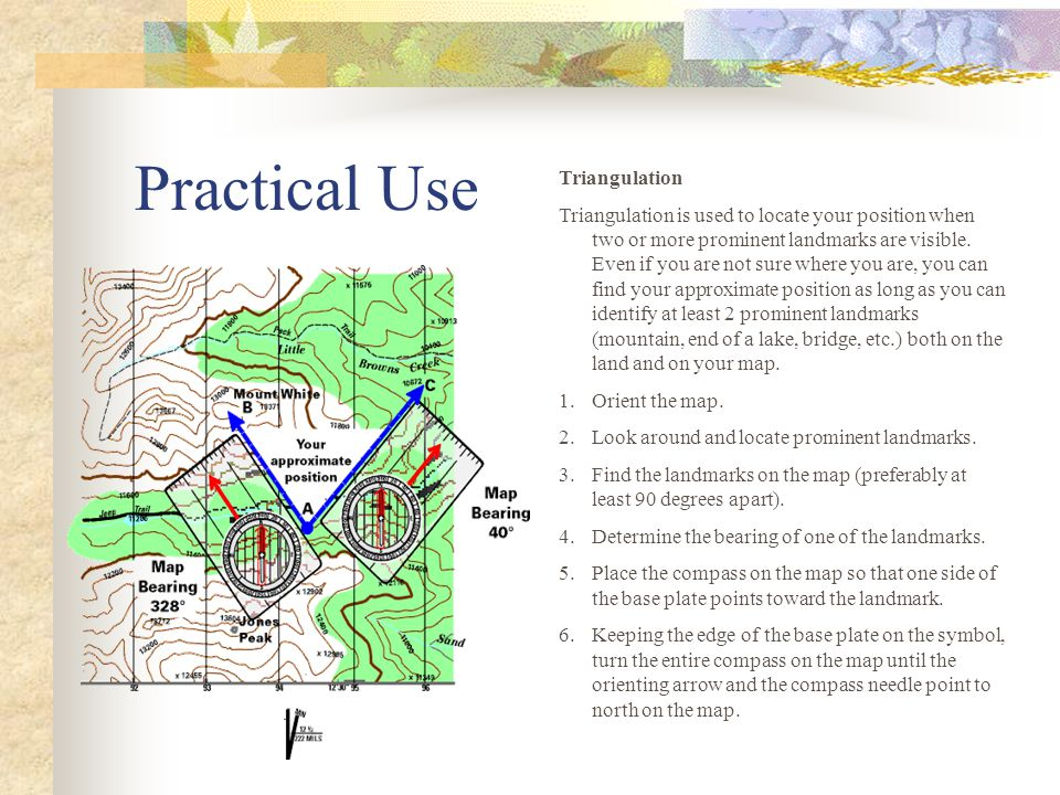 Practical Use Triangulation