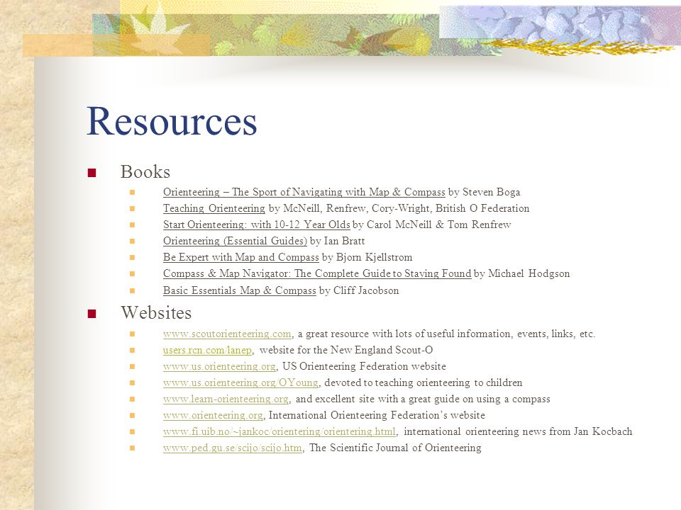 Resources Books Websites