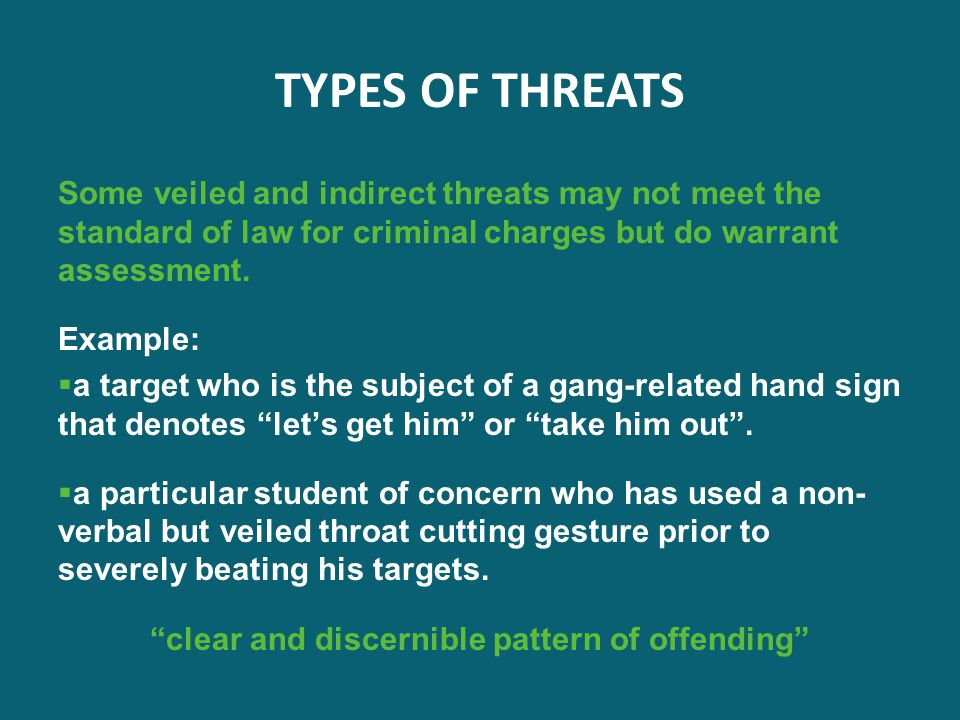 What Is The Definition Of Veiled Threat