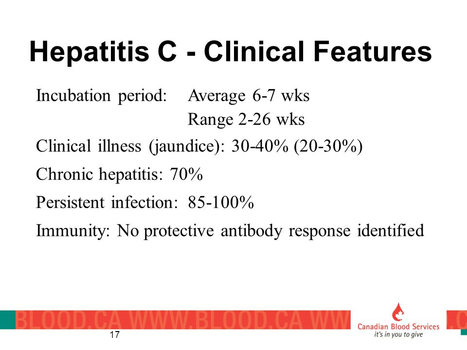 Hepatitis C - Clinical Features
