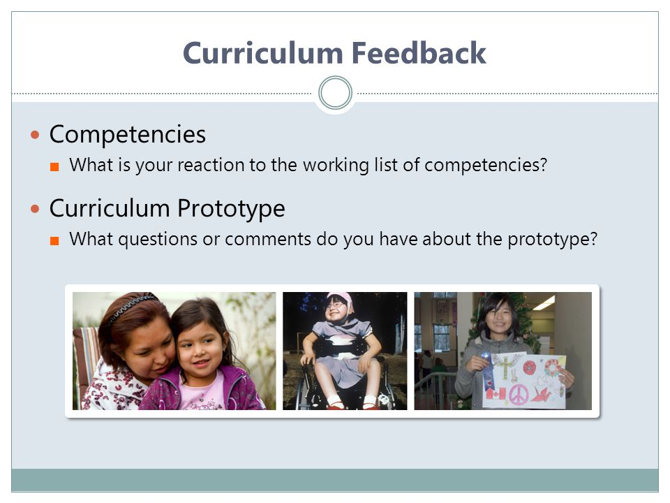 Curriculum Feedback Competencies Curriculum Prototype