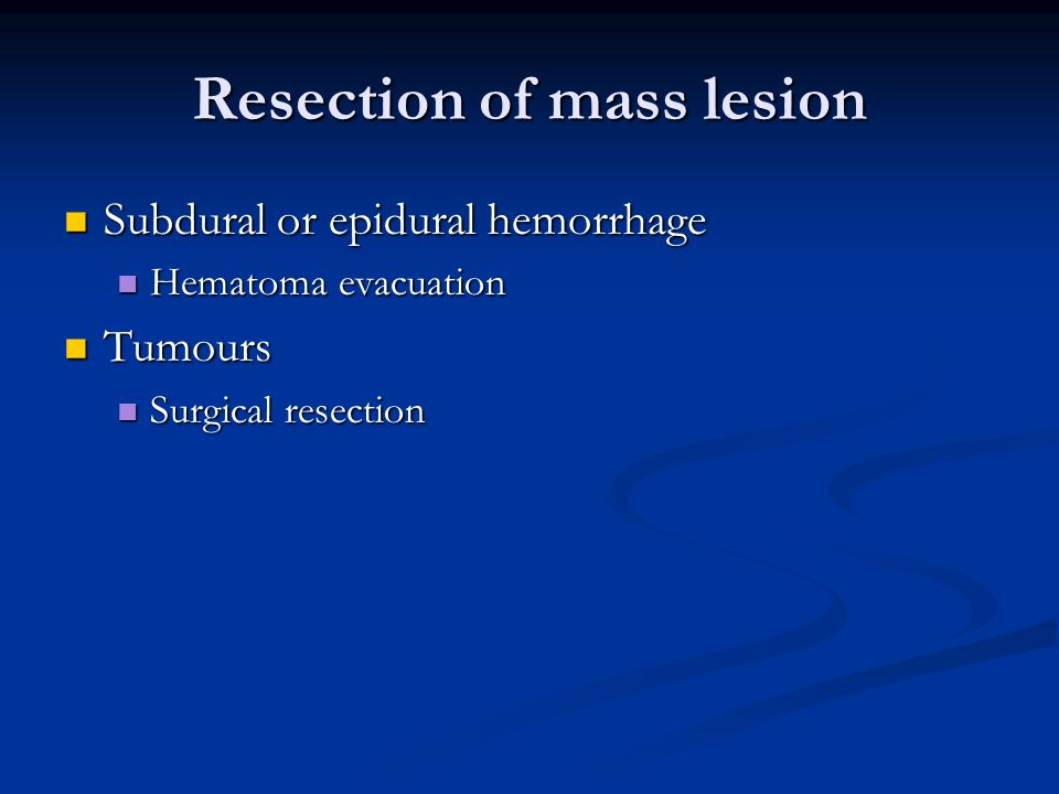Resection of mass lesion